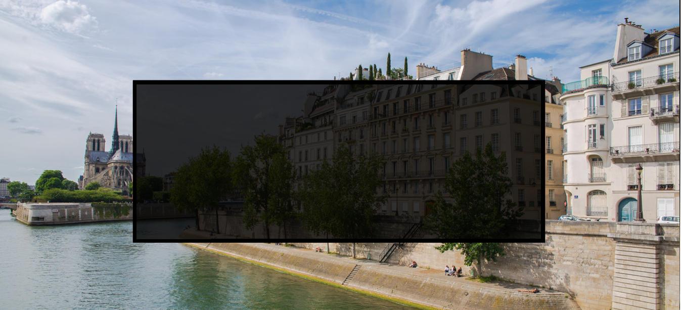 Vue de l'île saint Louis de Notre Dame et de la Seine