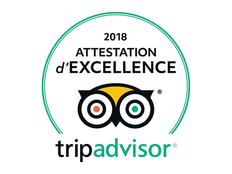 attestation d'excellence trip advisor 2018 gamescape