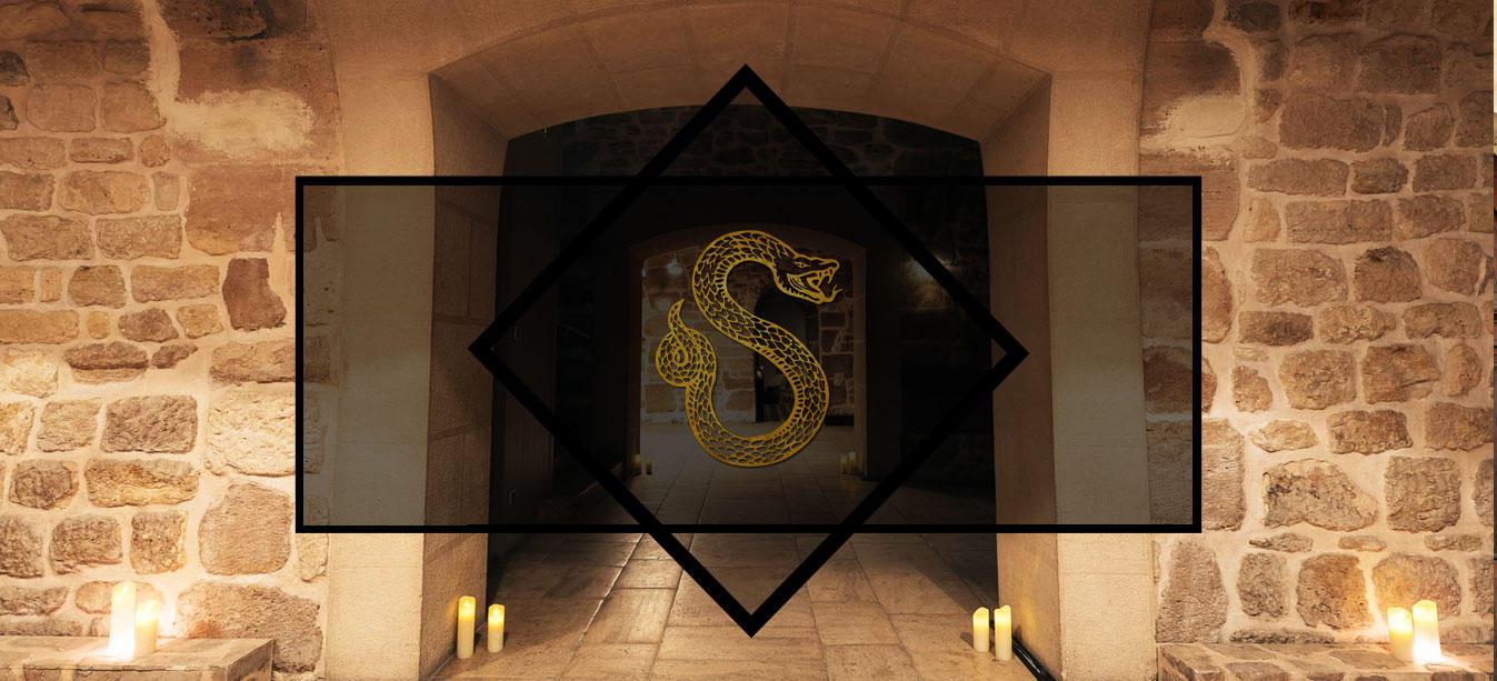 Vue du secret de l'ile avec le logo